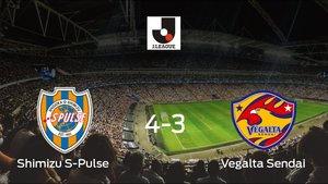 El Shimizu S-Pulse gana 4-3 al Vegalta Sendai en el IAI Stadium Nihondaira