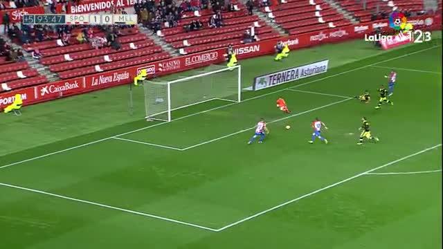 El Sporting hizo lo imposible: ¡fallar a puerta vacía!
