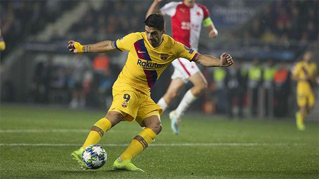 Suárez se volvió a quedar sin marcar fuera de casa