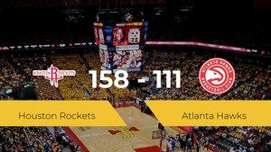 Triunfo de Houston Rockets ante Atlanta Hawks por 158-111