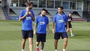 Último entrenamiento de la semana para el Barça