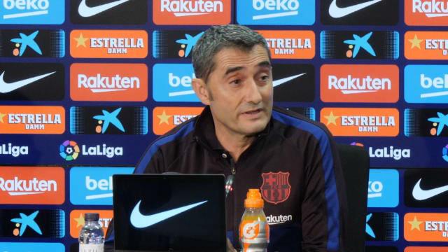Valverde habló en la previa del Barça - Valladolid