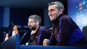 Valverde, en la rueda de prensa previa al choque de Anoeta