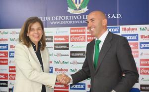 Victoria Pavón es la presidente del Leganés