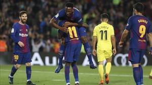 Yerry Mina es feliz jugando en el FC Barcelona