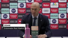 Zidane asume el mal partido del Madrid ante el Cádiz