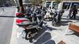 Motocicletas en las calles de Barcelona