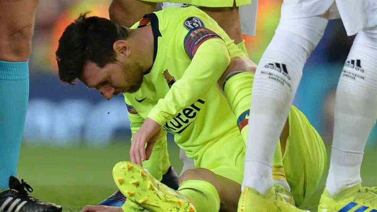 Messi se recupera de la herida de Manchester pero no viajara a Huesca