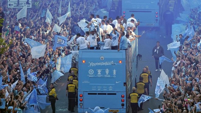 Manchester fue 'skyblue'