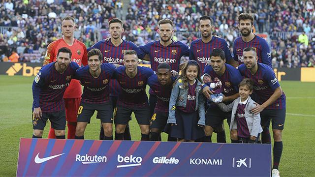 El 1x1 del Barça ante el Betis en la primera parte