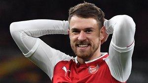 Aaron Ramsey, jugador del Arsenal, estaría en la órbita del Real Madrid