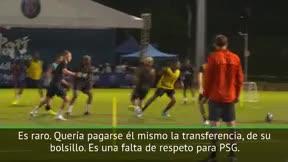 La afición del PSG muestra sus dudas sobre la continuidad de Neymar en París
