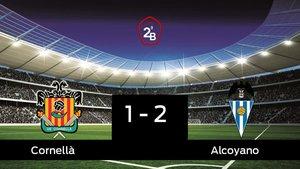 El Alcoyano vence 1-2 frente al Cornellà