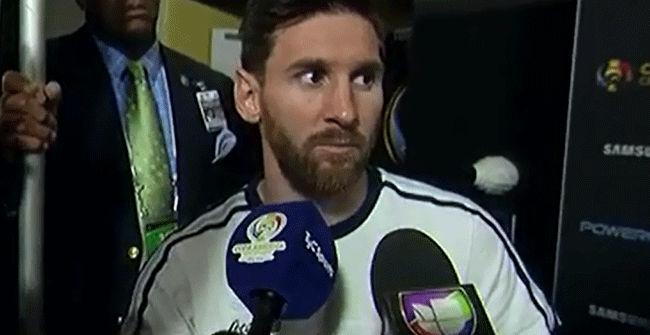 Así anunció Messi su retirada de la selección