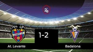 El Badalona vence por 1-2 al At. Levante