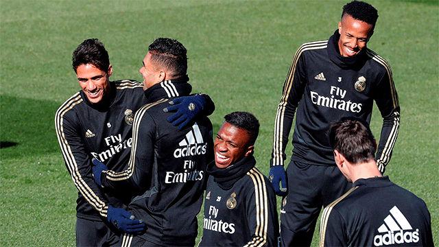 Bale y James no se entrenan antes de recibir al Eibar