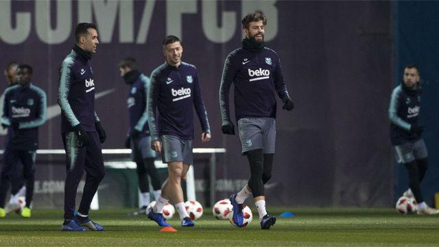 El Barça se entrena por última vez antes de recibior al Levante en la Copa