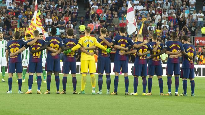 El Barça se une al recuerdo de las víctimas del 17-A