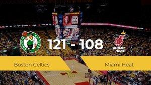 Boston Celtics se hace con la victoria contra Miami Heat por 121-108