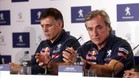 Carlos Sainz y Lucas Cruz, en la rueda de prensa