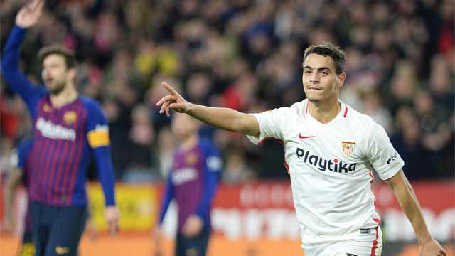 La defensa del Barça se durmió... y Ben Yedder lo aprovechó