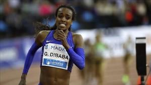 Dibaba fue la gran estrella en Sabadell