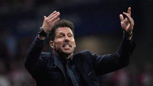 Diego Pablo Simeone, satisfecho tras el 2-2 frente a la Juventus