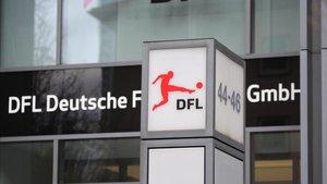 Entrada de las oficinas de la Liga Alemana de Fútbol (DFL)