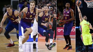 Heurtel, Blazic, Claver, Singleton y Séraphin acaban contrato con el Barça en junio