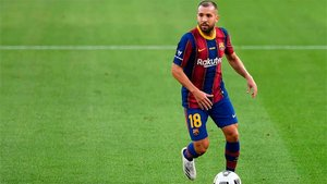 Jordi Alba, en acción frente al Villarreal