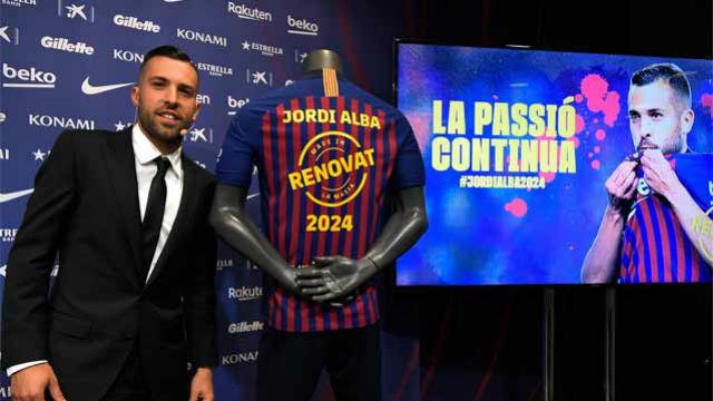 Jordi Alba firmó su renovación hasta el 2024