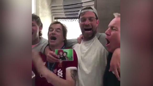 Klopp canta con los fans del Liverpool: El Madrid tuvo toda la p*** suerte