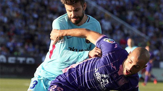 LALIGA   Leganés - FC Barcelona (0-3): Amarilla de Piqué