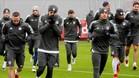 Los jugadores del Bayern de Múnich, en su último entrenamiento