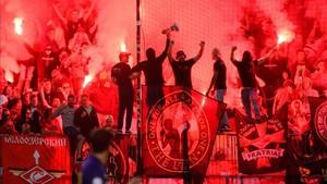 Los ultras del Spartak la liaron en el campo del Maribor