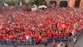 El Mallorca celebra el ascenso a Primera con sus aficionados