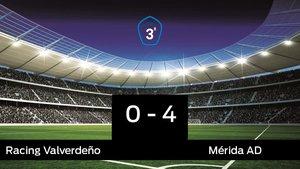 El Mérida AD vence 0-4 frente al Racing Valverdeño