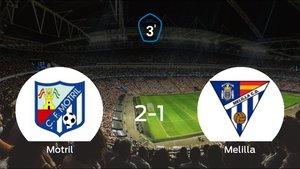 El Motril se hace fuerte en casa y derrota al Melilla CD