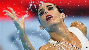 Ona Carbonell durante el solo en el Mundial de Gwangju