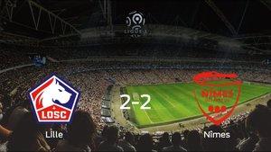 El OSC Lille y el Olimpique de Nimes se reparten los puntos tras su empate a dos