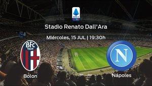 Previa del partido: Bolonia - Nápoles