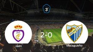 El Real Jaén vence 2-0 en su estadio frente al At. Malagueño