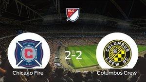 Reparto de puntos entre el Chicago Fire y el Columbus Crew: 2-2