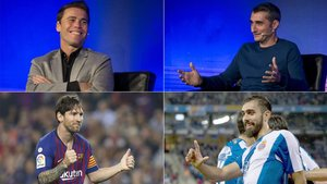Rubi, Valverde, Leo Messi y Borja Iglesias, protagonistas del derbi Espanyol-Barça de LaLiga 2018/19