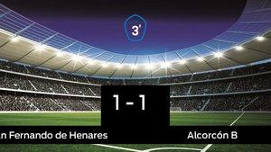El San Fernando de Henares empató ante el Alcorcón B (1-1)