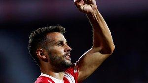 Stuani, goleador en El Alcoraz