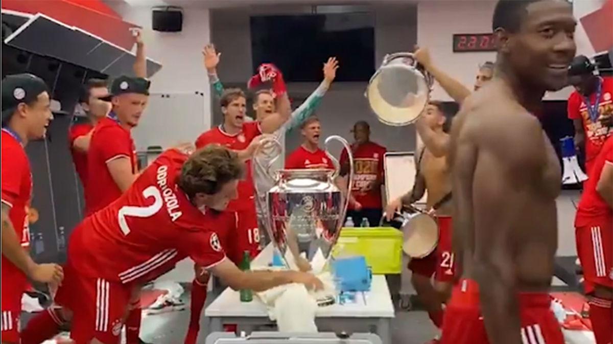 Si no lo ves, no lo crees: la peculiar celebración de Odriozola nada más ganar la Champions