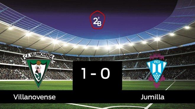 El Villanovense derrota en casa al Jumilla por 1-0