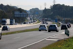 Plano general de la C-58 entre Terrassa y Sabadell donde se ampliará la capacidad con dos nuevos carriles