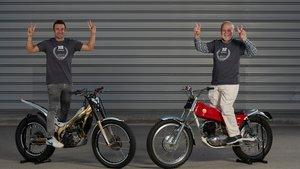 Toni Bou y Pere Pi con la Cota 50 aniversario